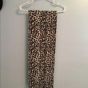 "Animal print scarf 60"" long x 10"" wide"
